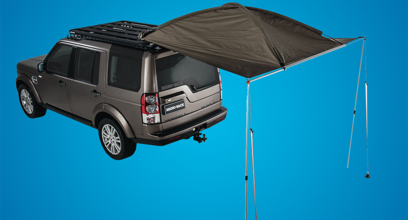 Rhino Racks Dome 1300 Awning Easily Mounts To The Front Side Or Rear Of Your Vehicle Provide Protection From Rain Sun